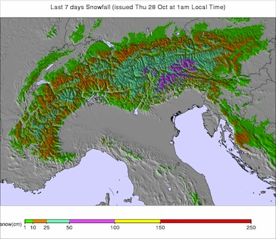 Alps Snow Accumulation