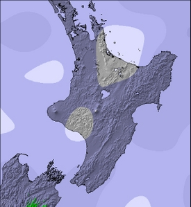 NZ North Island Next 3 Days Snow Forecast