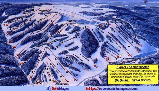 Afton Alps Ski Resort Guide Location Map  Afton Alps ski holiday