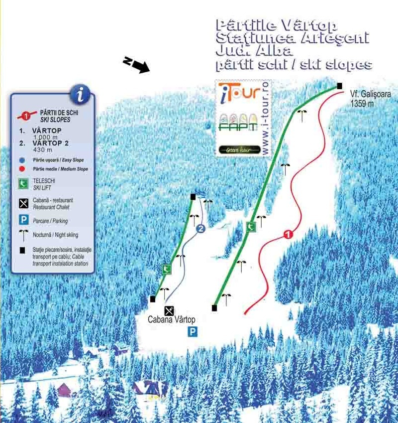 Arieşeni Piste / Trail Map