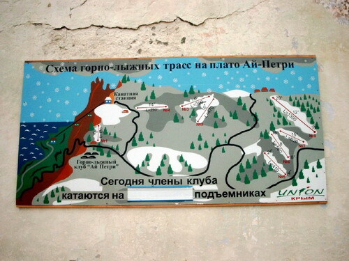 Ay-Petri Piste / Trail Map