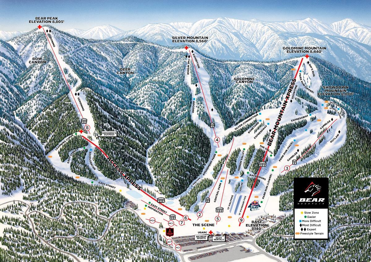 Big Bear Mountain Ski Resort Guide Location Map Big