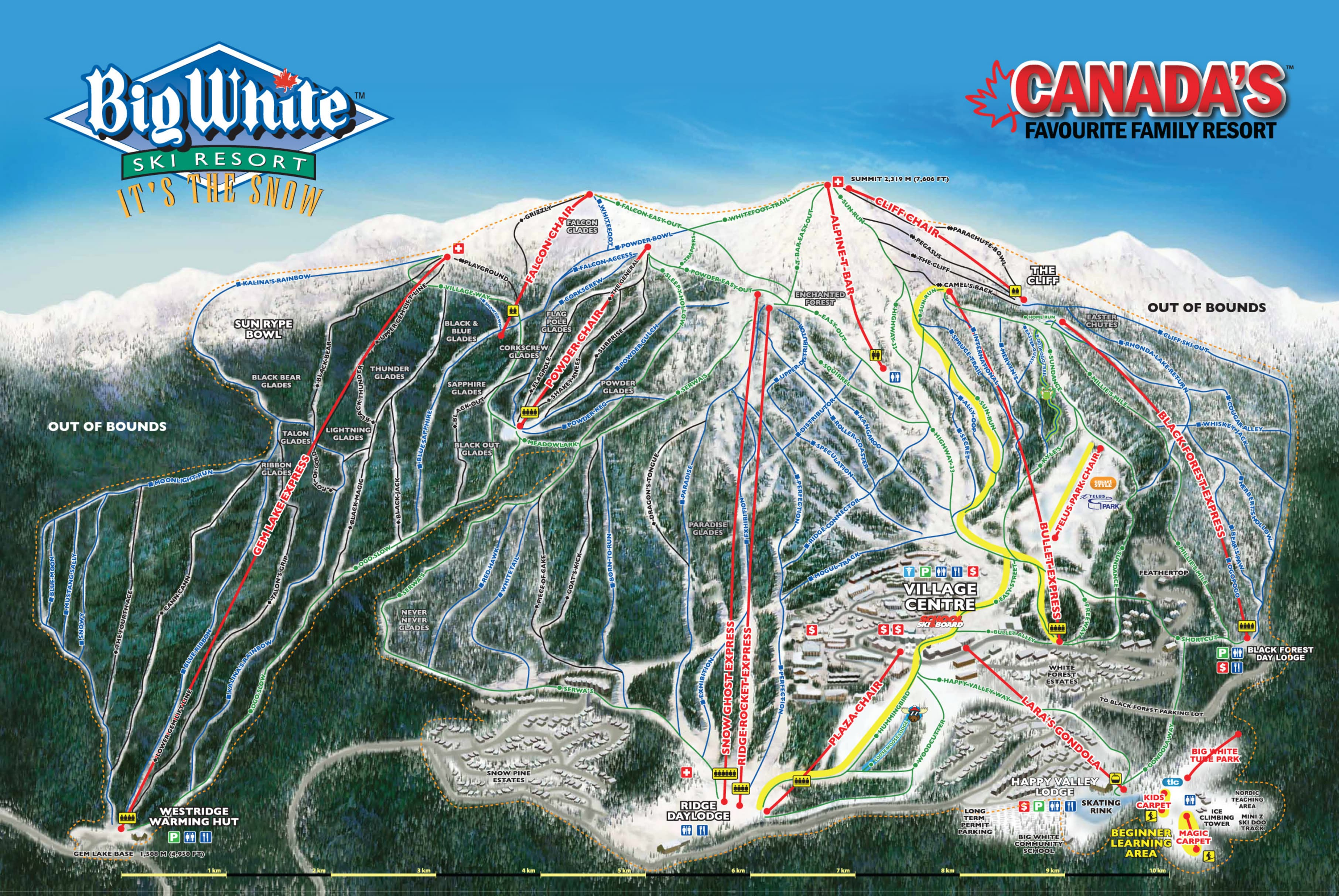 Big White Piste / Trail Map