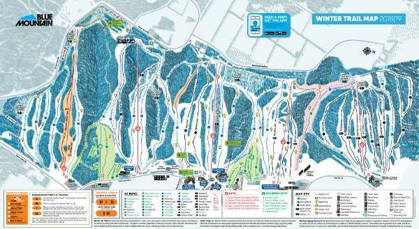 Blue Mountain Схема трасс / маршрутов.