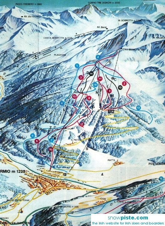 Bormio Piste / Trail Map