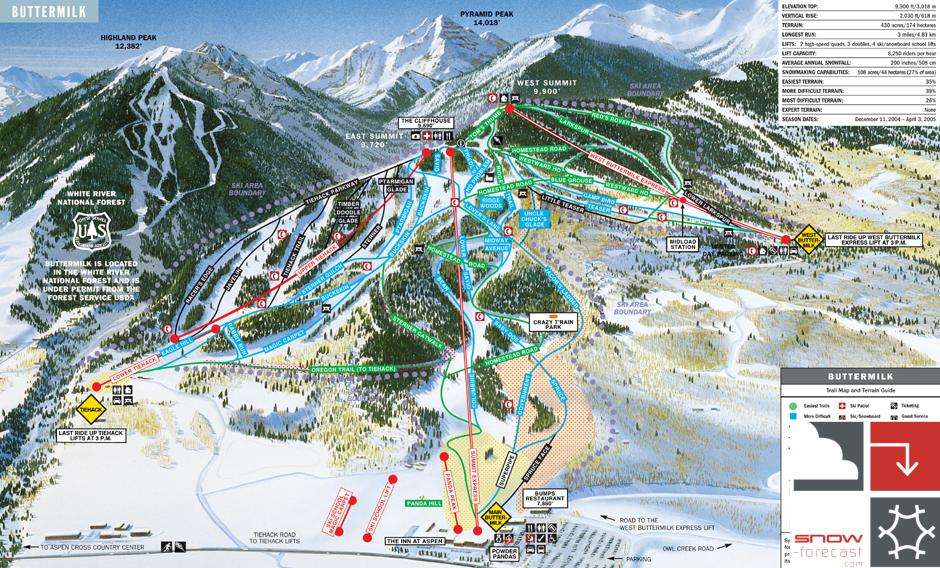 Buttermilk Piste / Trail Map