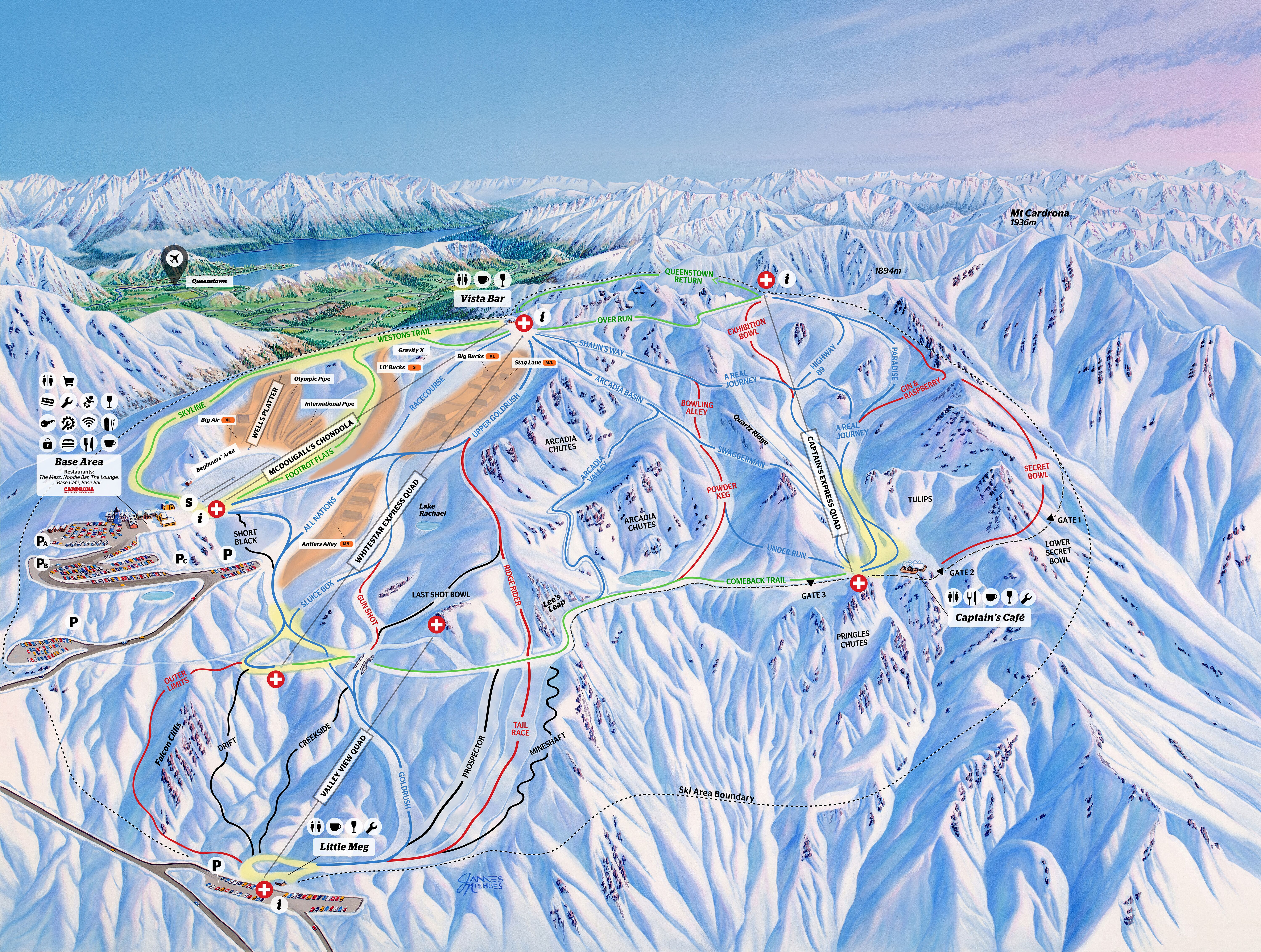 Carona Piste / Trail Map