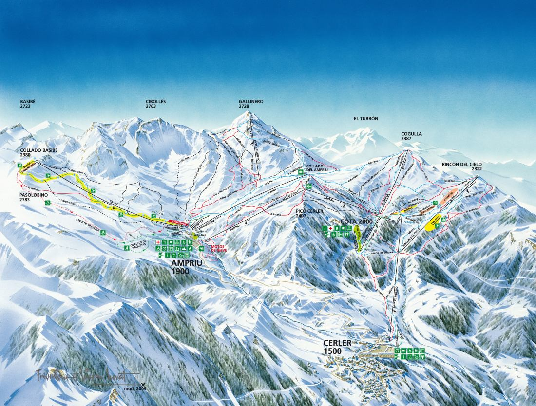 Cerler Piste / Trail Map