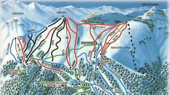 Chapelco ski resort guide location map chapelco ski for Fuera de pista cerro catedral