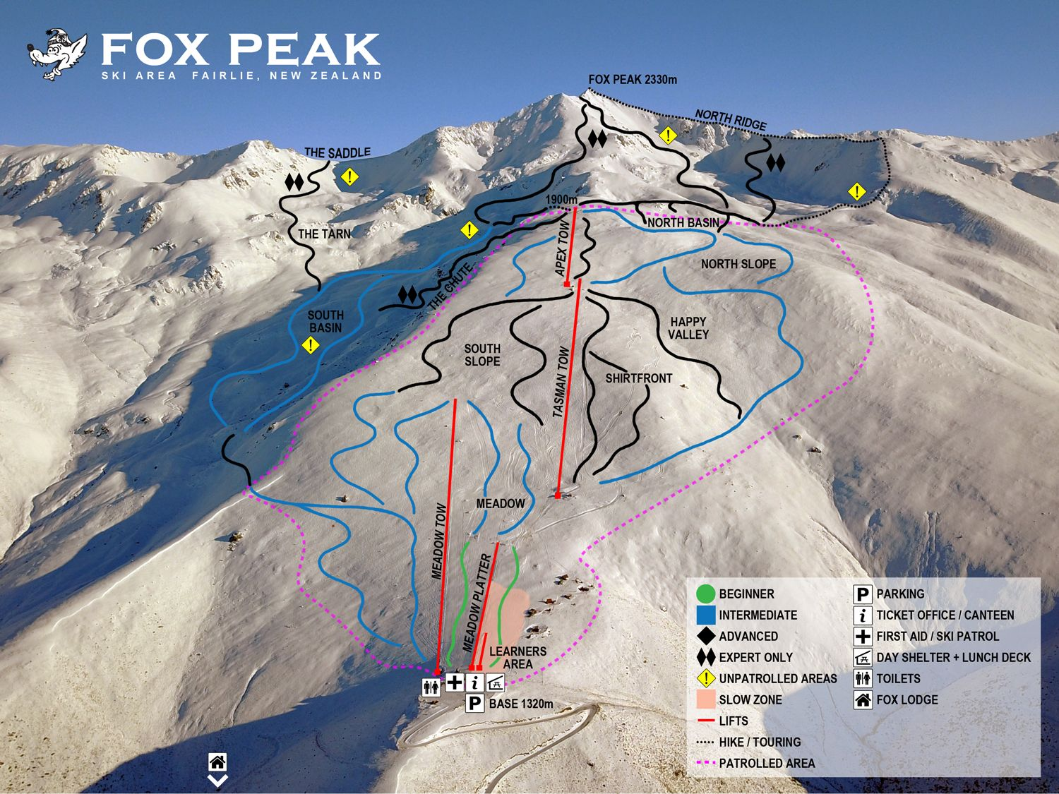 Fox Peak Piste / Trail Map