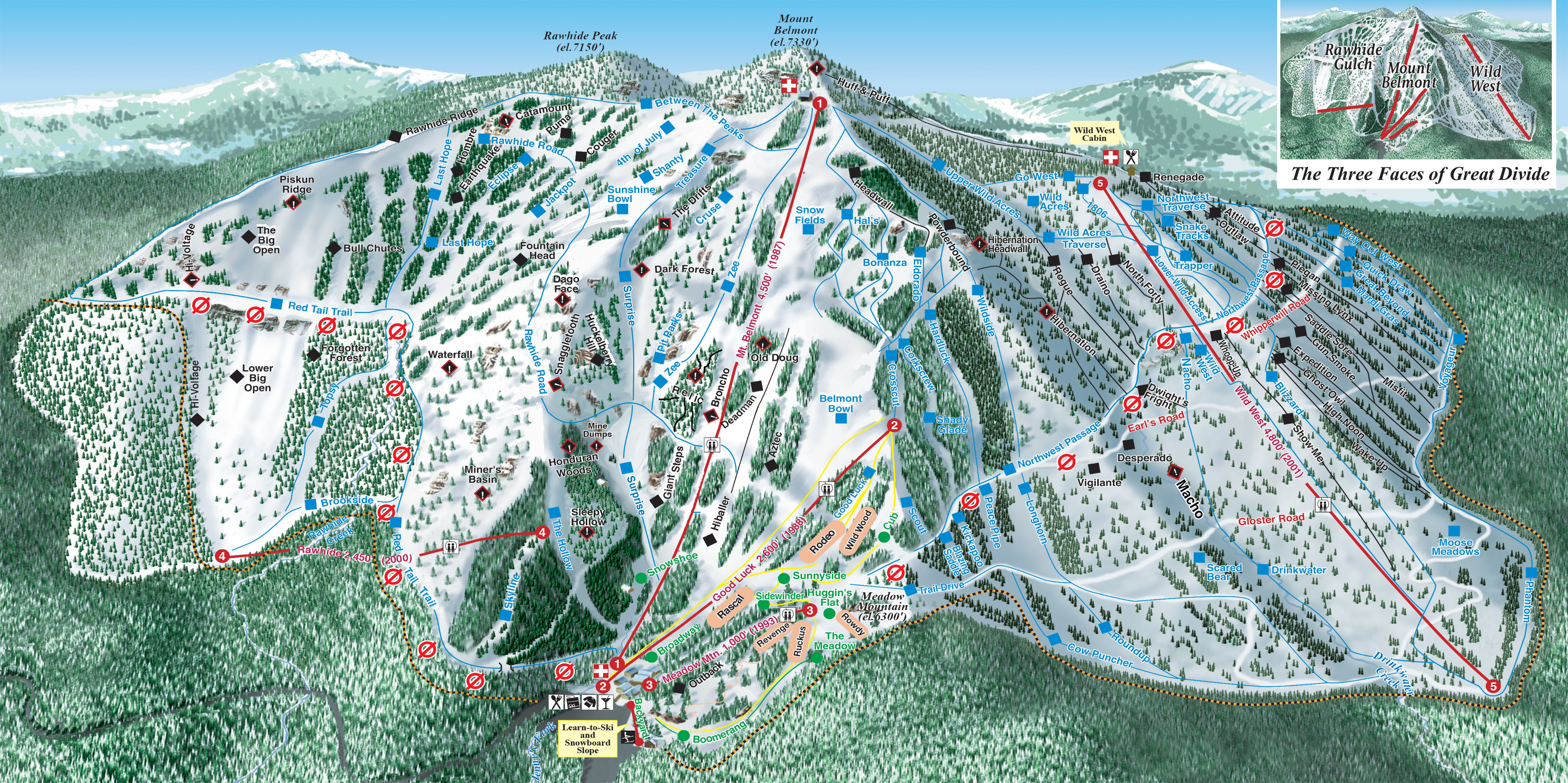 Great Divide Piste / Trail Map