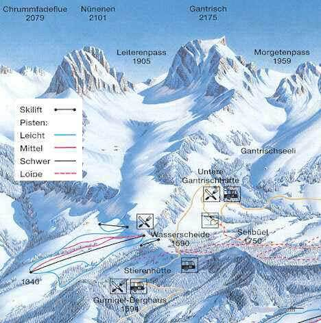 Gurnigel Piste / Trail Map