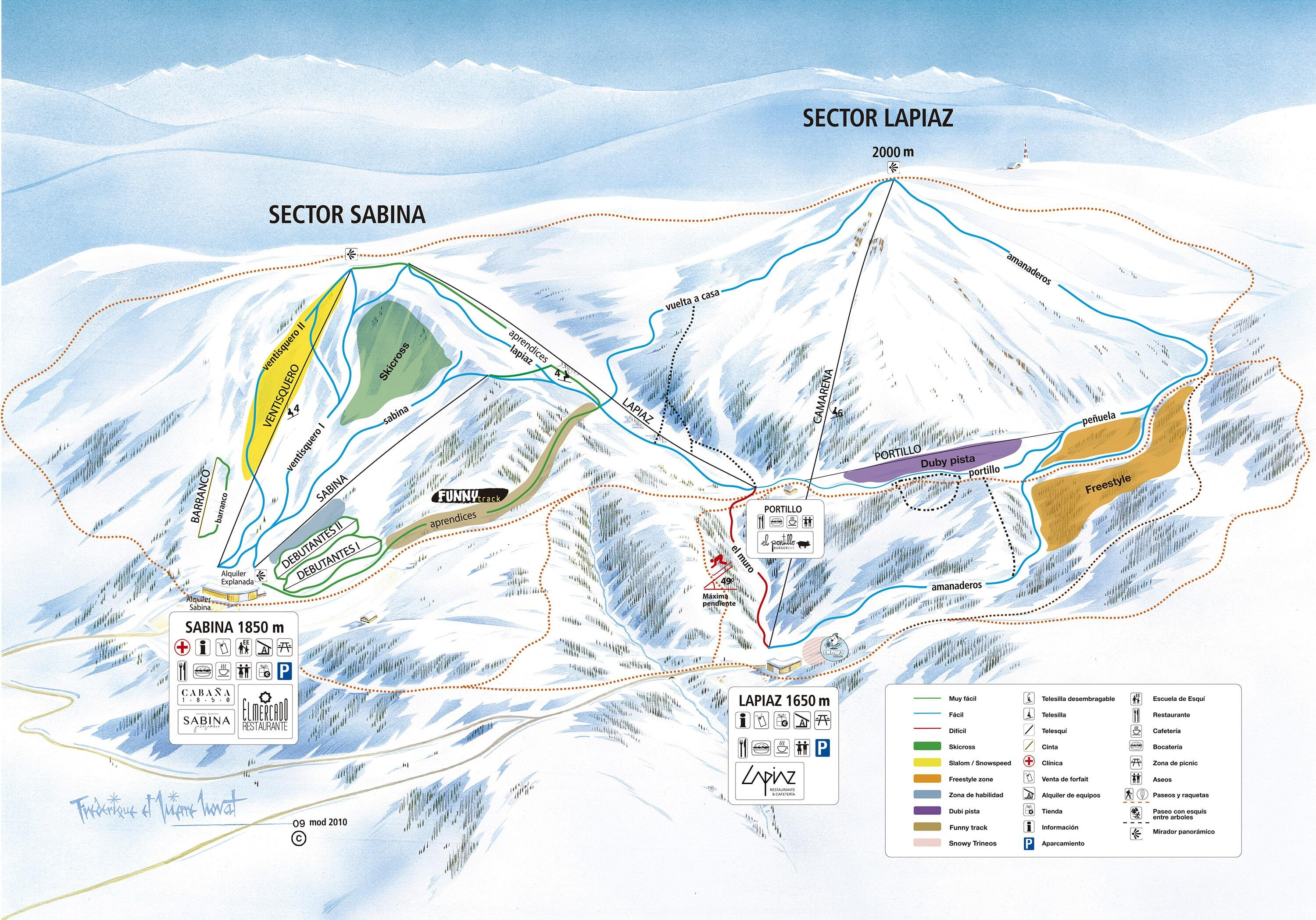 Javalambre Piste / Trail Map