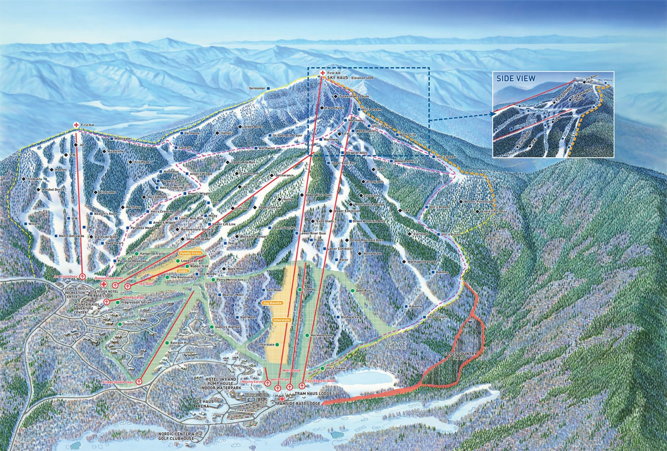 Jay Peak Piste Map  Trail Map High Res