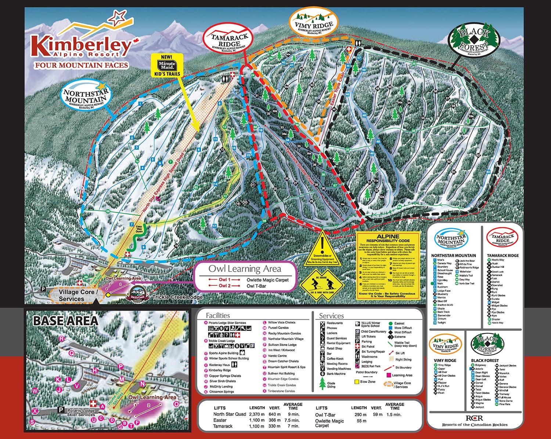 Kimberley Ski Resort Guide Location Map  Kimberley ski holiday