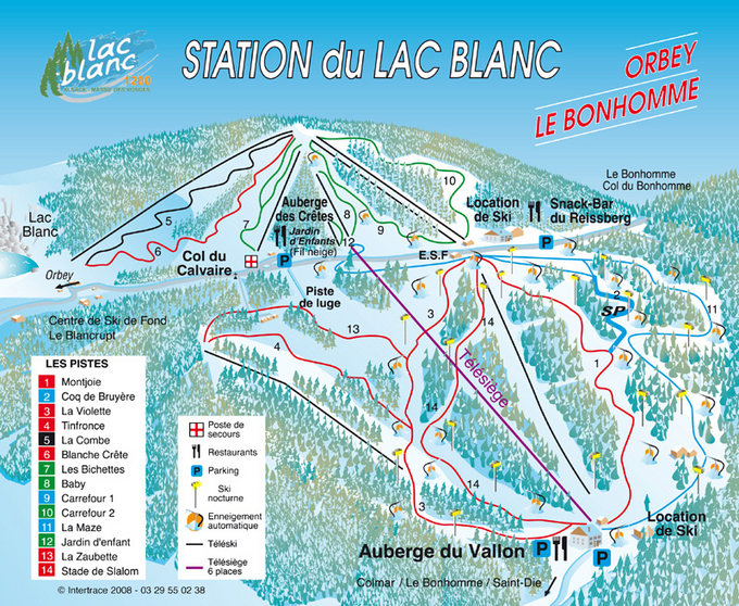 Lac Blanc/Kaysersberg Piste / Trail Map