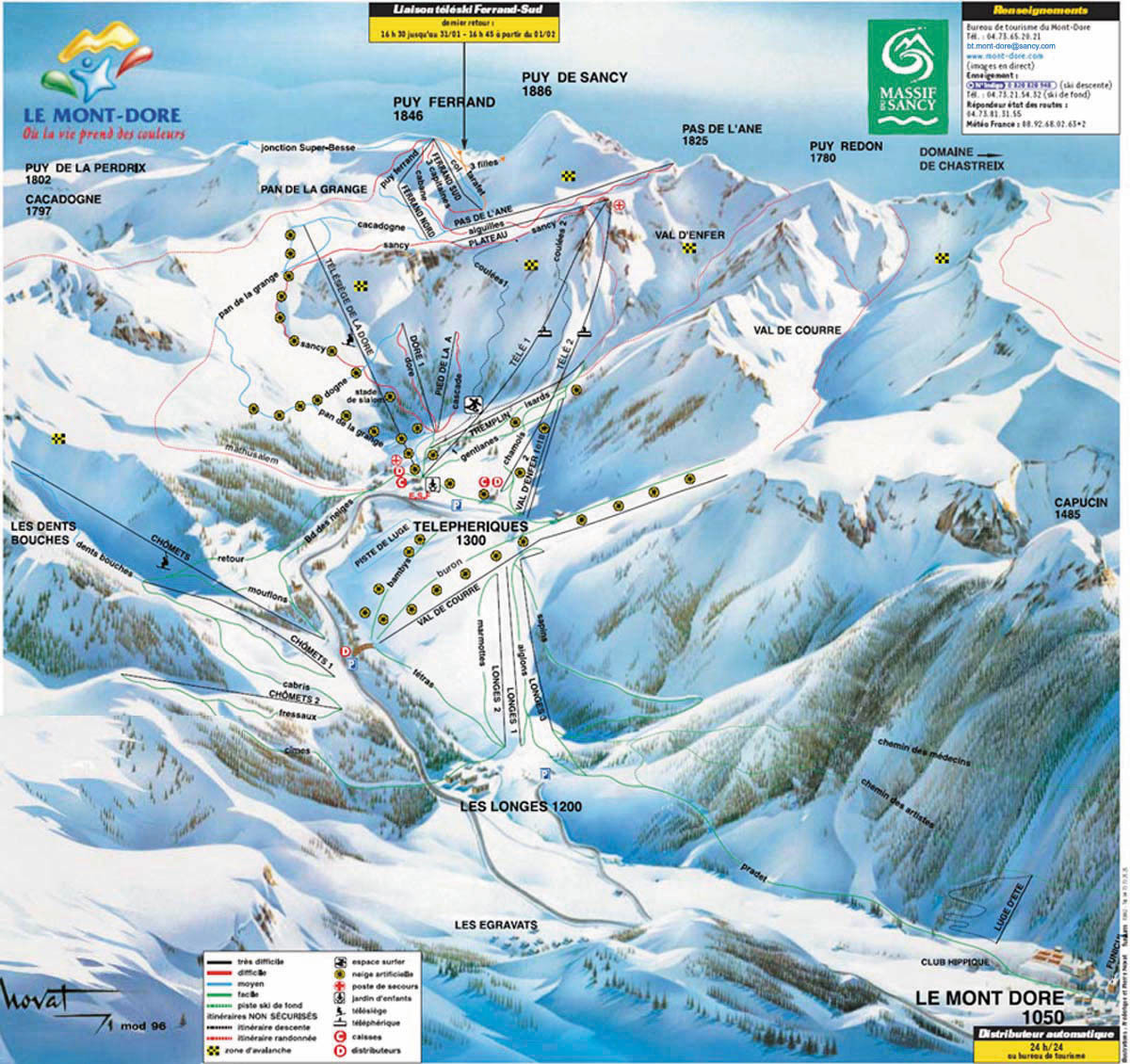 le mont dore ski resort guide location map le mont dore ski accommodation
