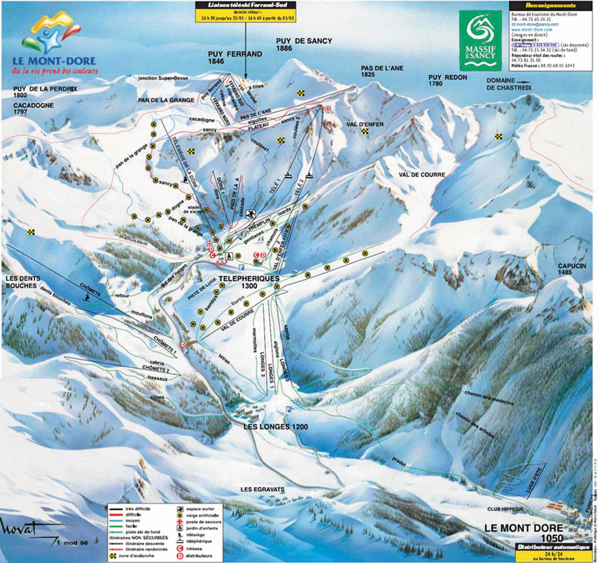 le mont dore piste map trail map