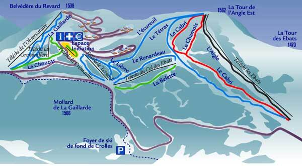 Savoie Grand Revard Piste / Trail Map