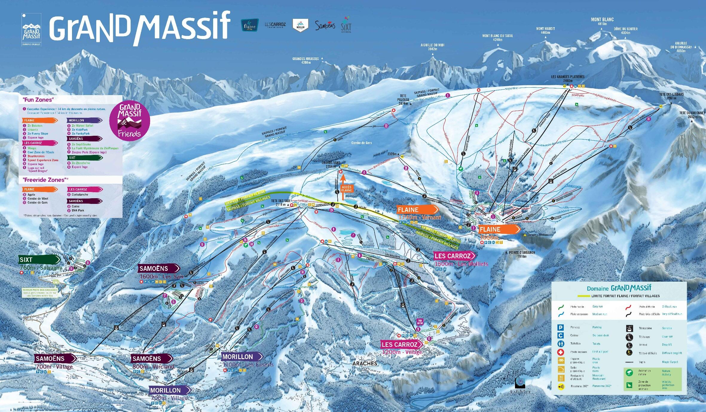 Les Carroz Piste / Trail Map