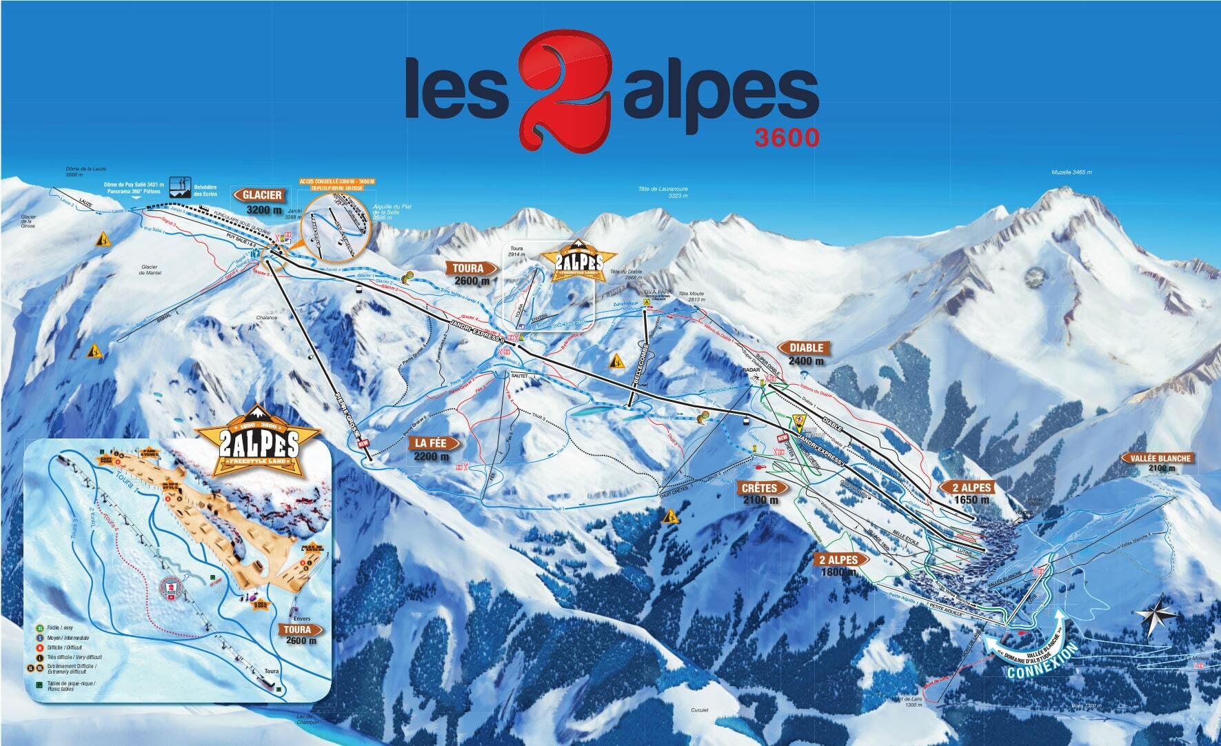 Les deux alpes ski resort guide location map les deux for Piscine les deux alpes