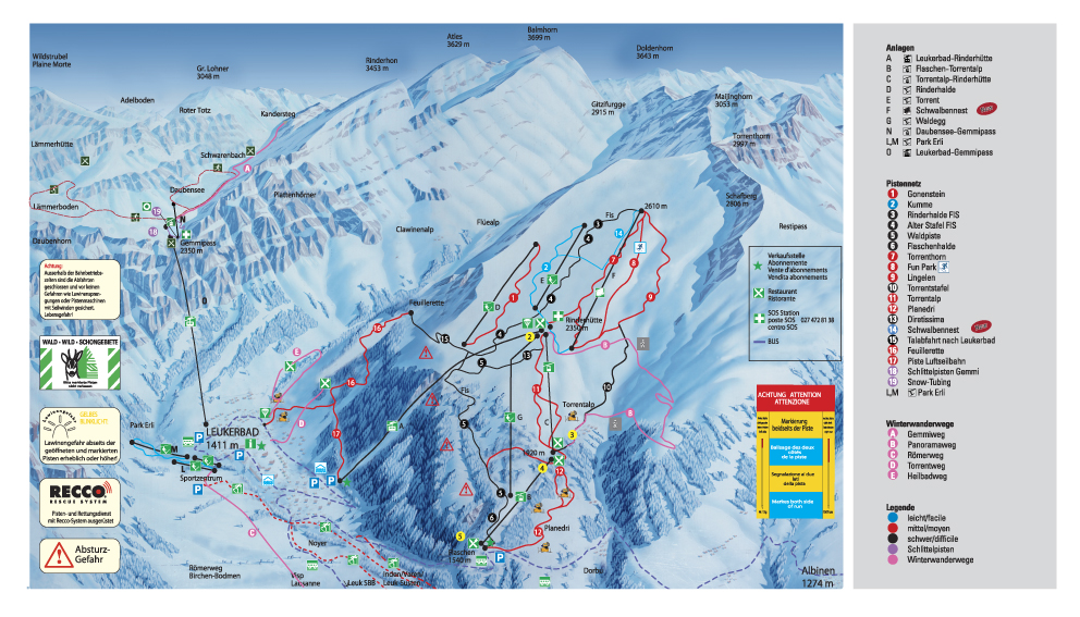 Leukerbad Piste / Trail Map