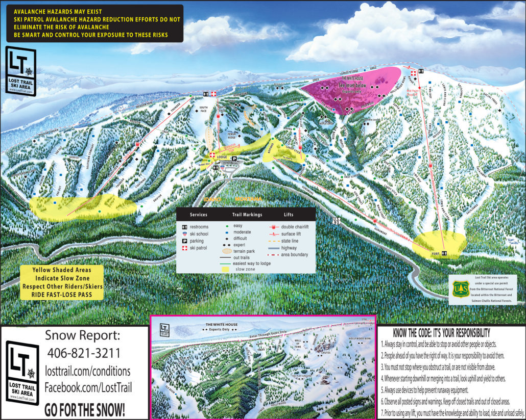 Lost Trail - Powder Mtn Piste / Trail Map