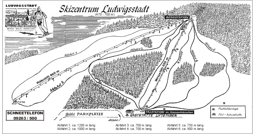 Ludwigsstadt/Skizentrum Piste / Trail Map