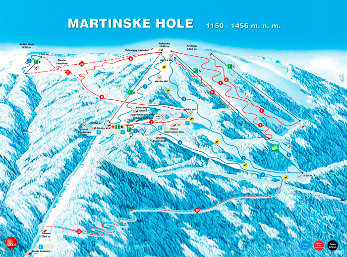 Martinky Piste / Trail Map