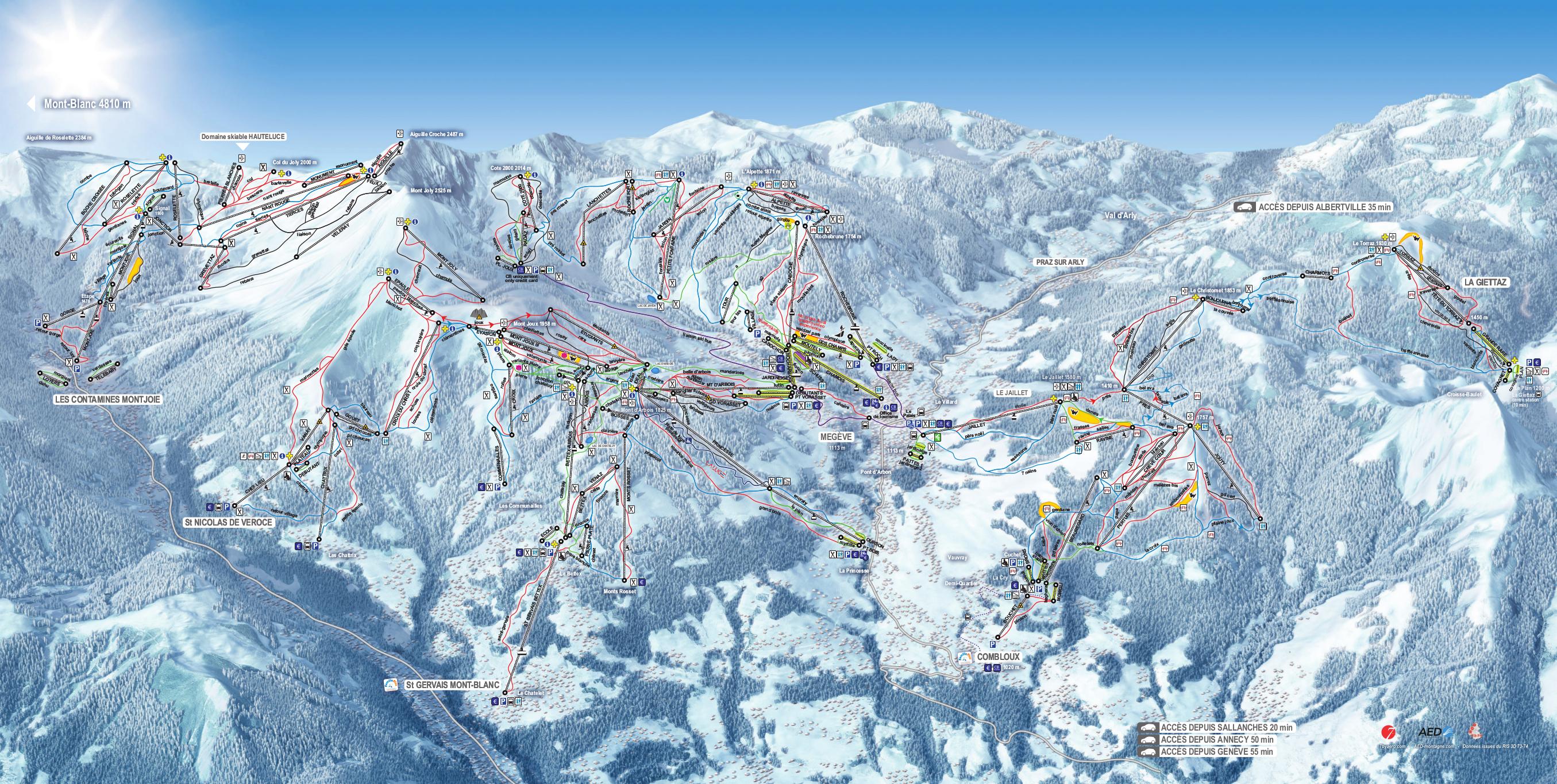 Megeve location ski
