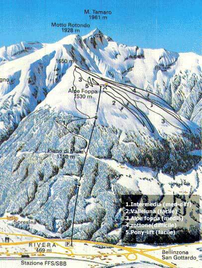 Monte Tamaro Piste / Trail Map
