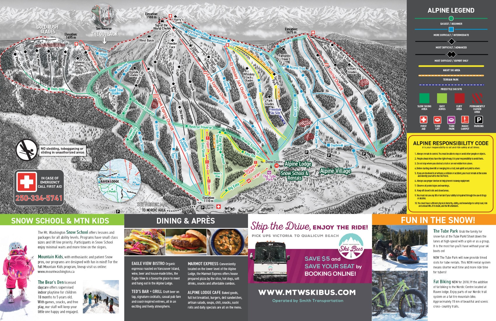 Mount Washington Ski Resort Guide Location Map  Mount Washington