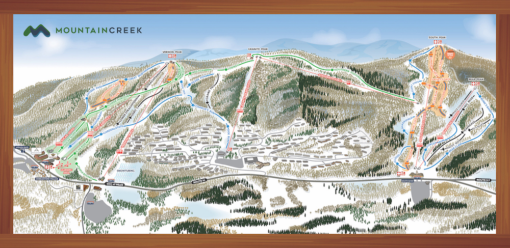 Mountain Creek Resort Piste / Trail Map