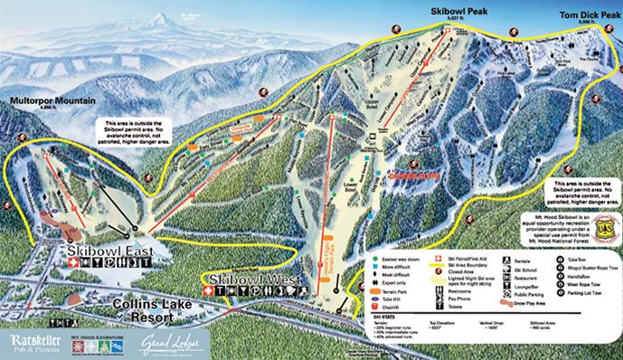 Mt Hood Ski Bowl Ski Resort Guide Location Map Amp Mt Hood