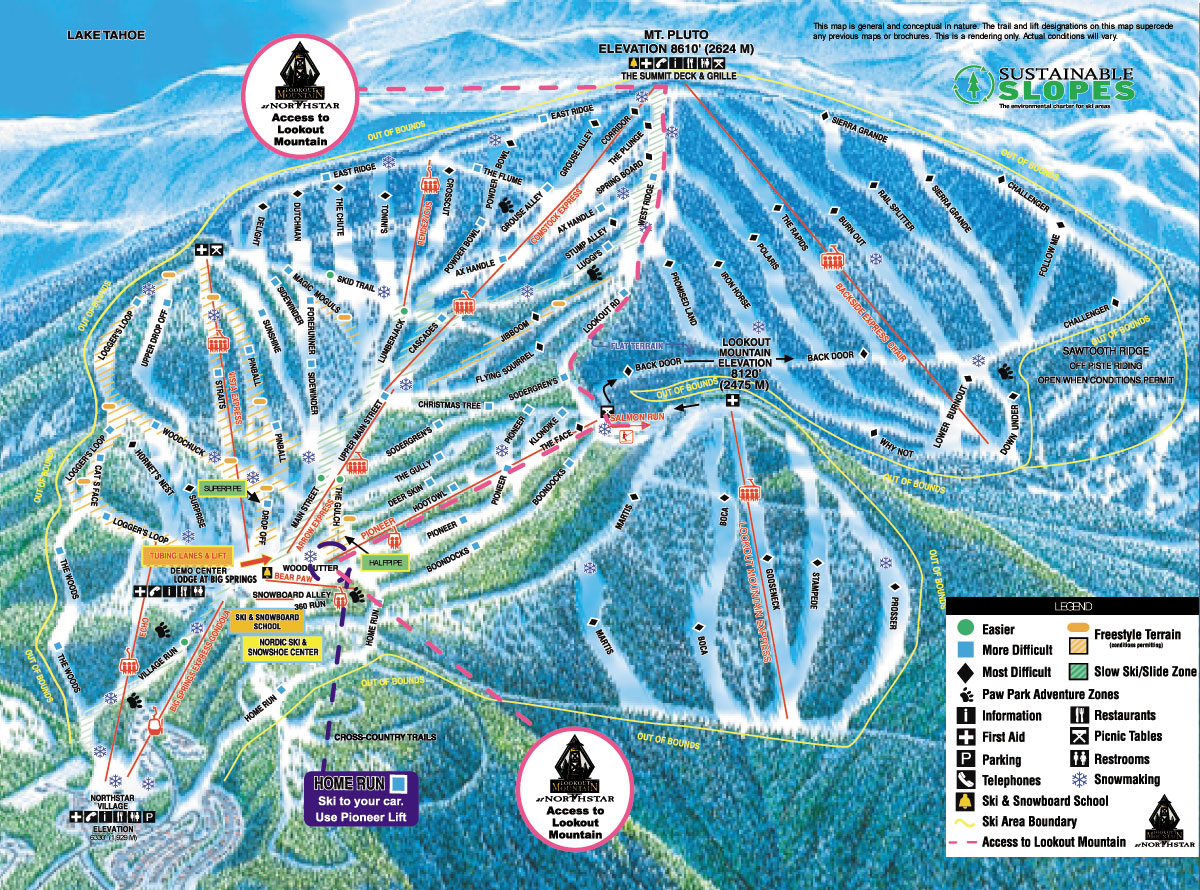 Northstar Ski Resort Map