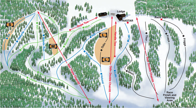 Norway Mountain Piste Map Trail Map - Norway michigan map