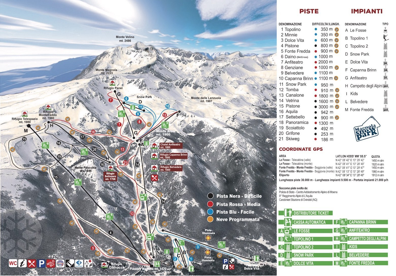 Ovindoli Piste / Trail Map