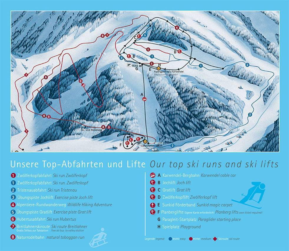 Pertisau am Achensee Piste / Trail Map