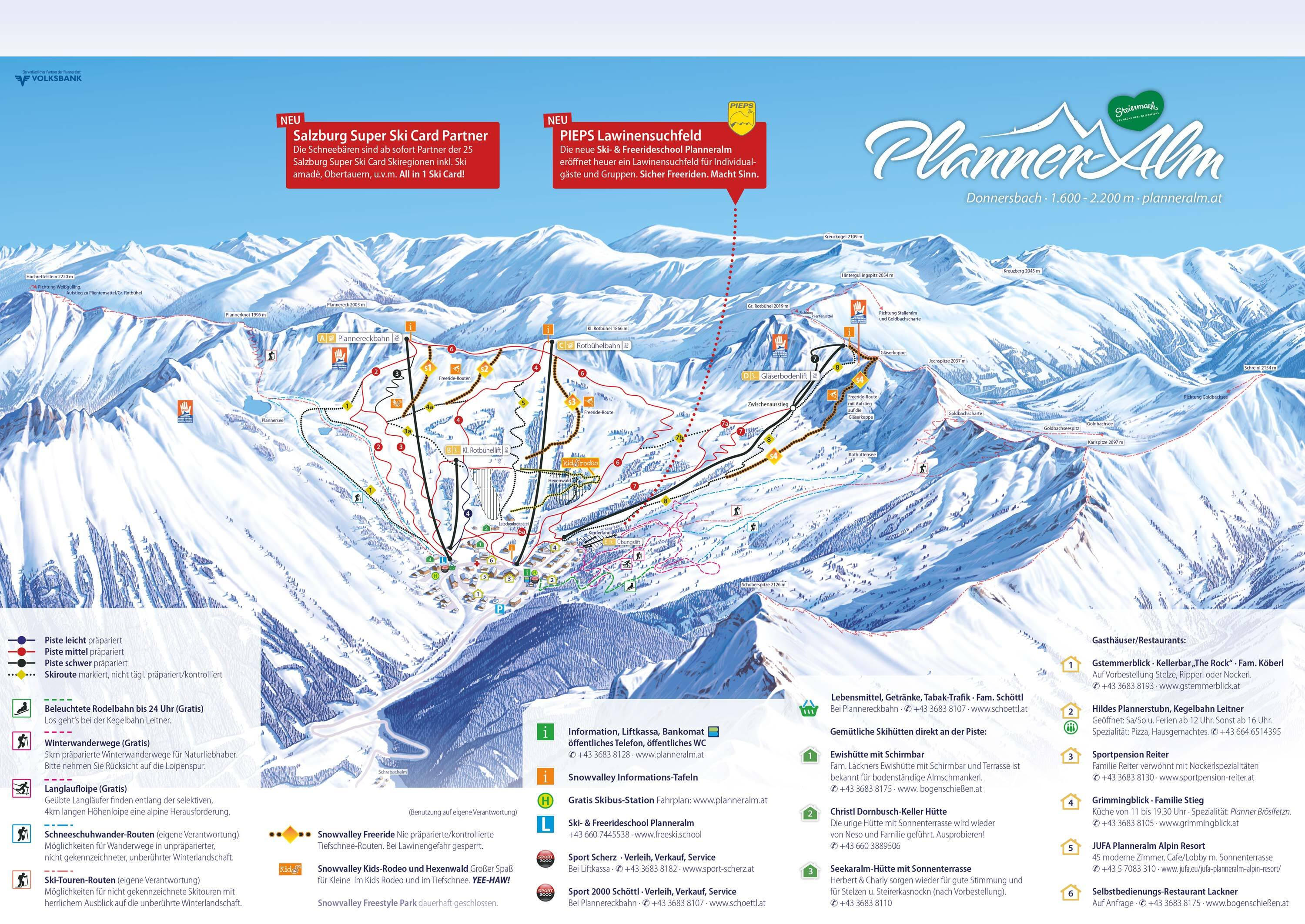Planneralm Piste / Trail Map