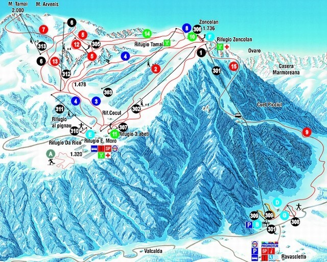Ravascletto Italy  city pictures gallery : Ravascletto Ski Resort Guide, Location Map & Ravascletto ski holiday ...