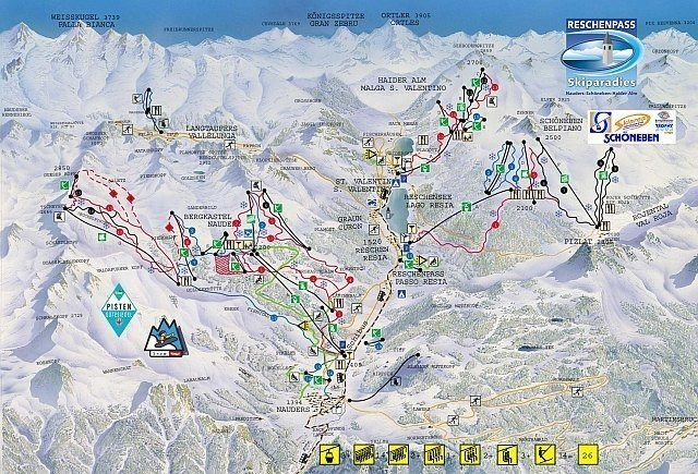 Resia-Curon Piste / Trail Map