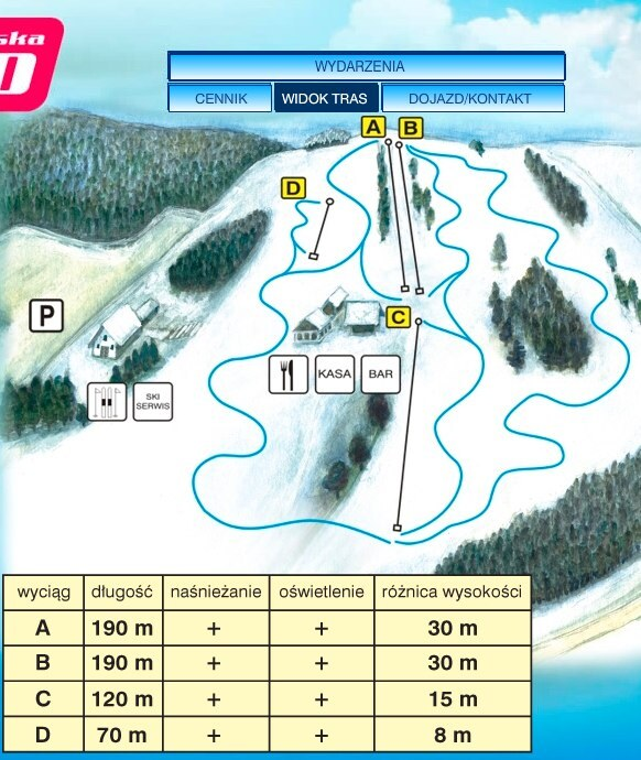 Rybno Piste / Trail Map