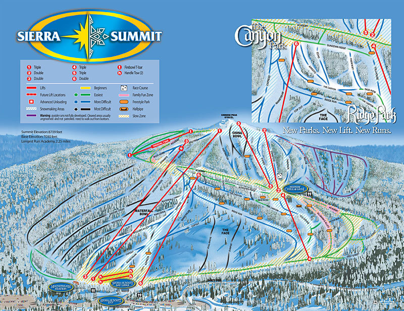 China Peak Mountain Resort Ski Resort Guide Location Map
