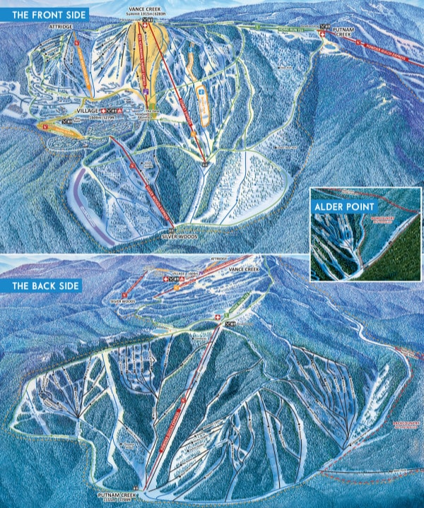 SilverStar Piste / Trail Map