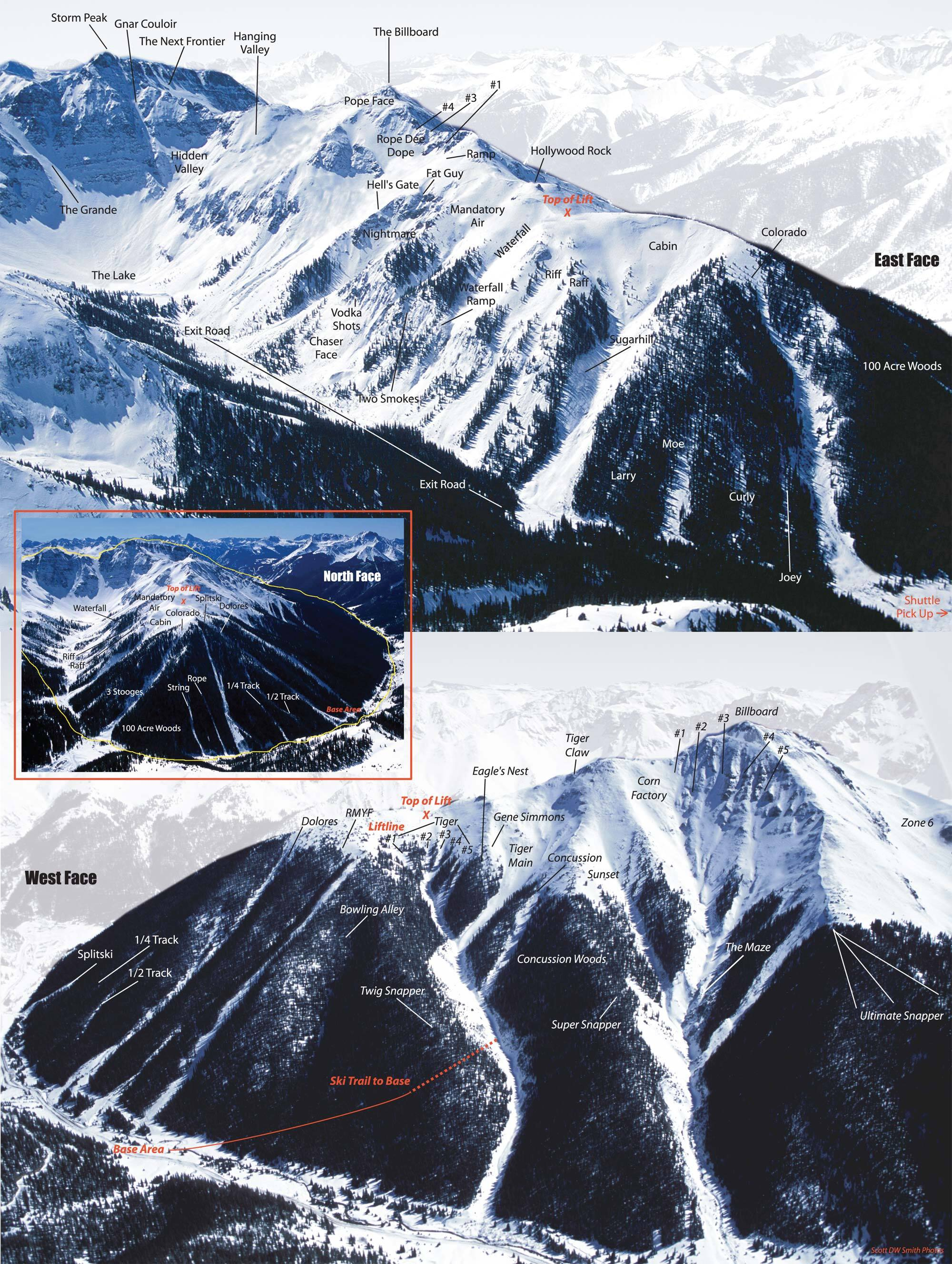 Silverton Mountain Piste / Trail Map