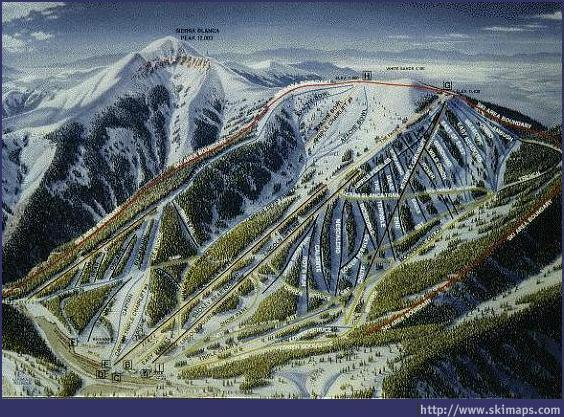 Ski Apache Piste / Trail Map