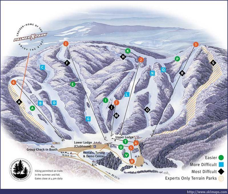 Ski Butternut Piste / Trail Map