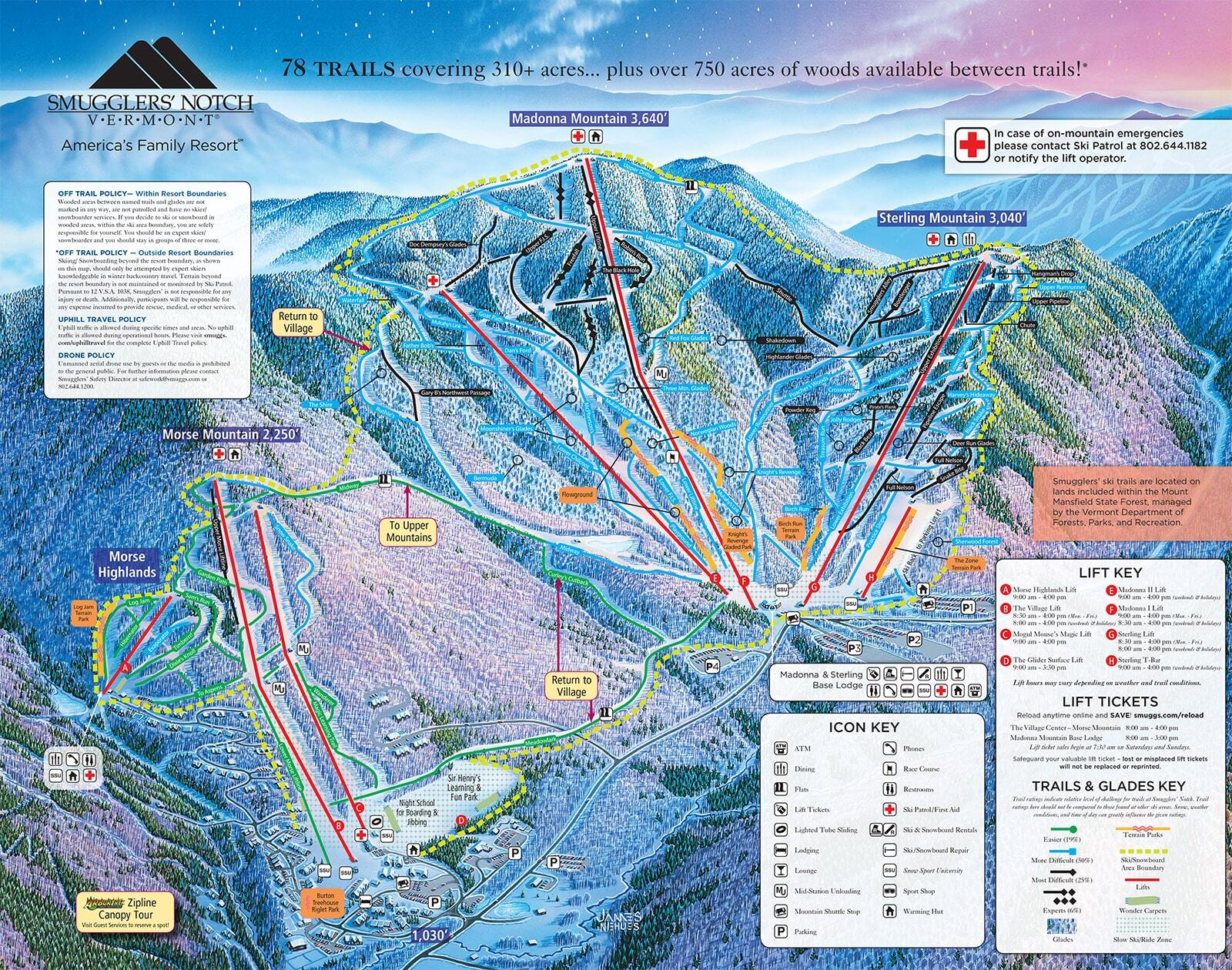 Smuggler39s Notch Piste Map  Trail Map