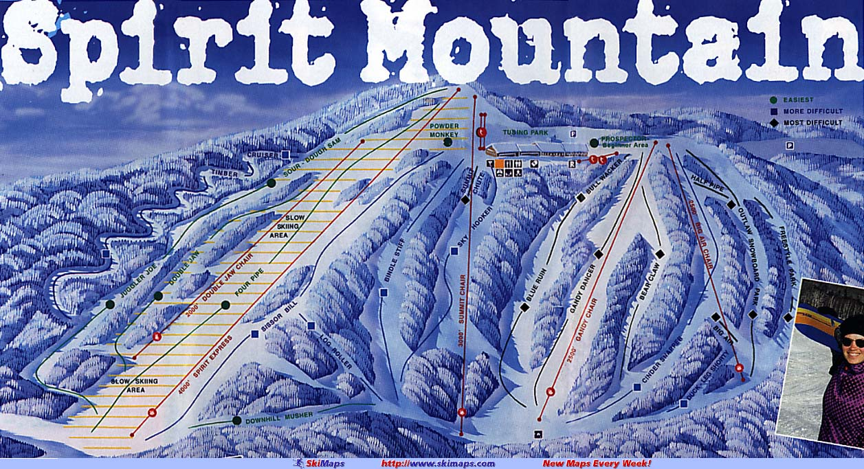Spirit Mountain Piste / Trail Map