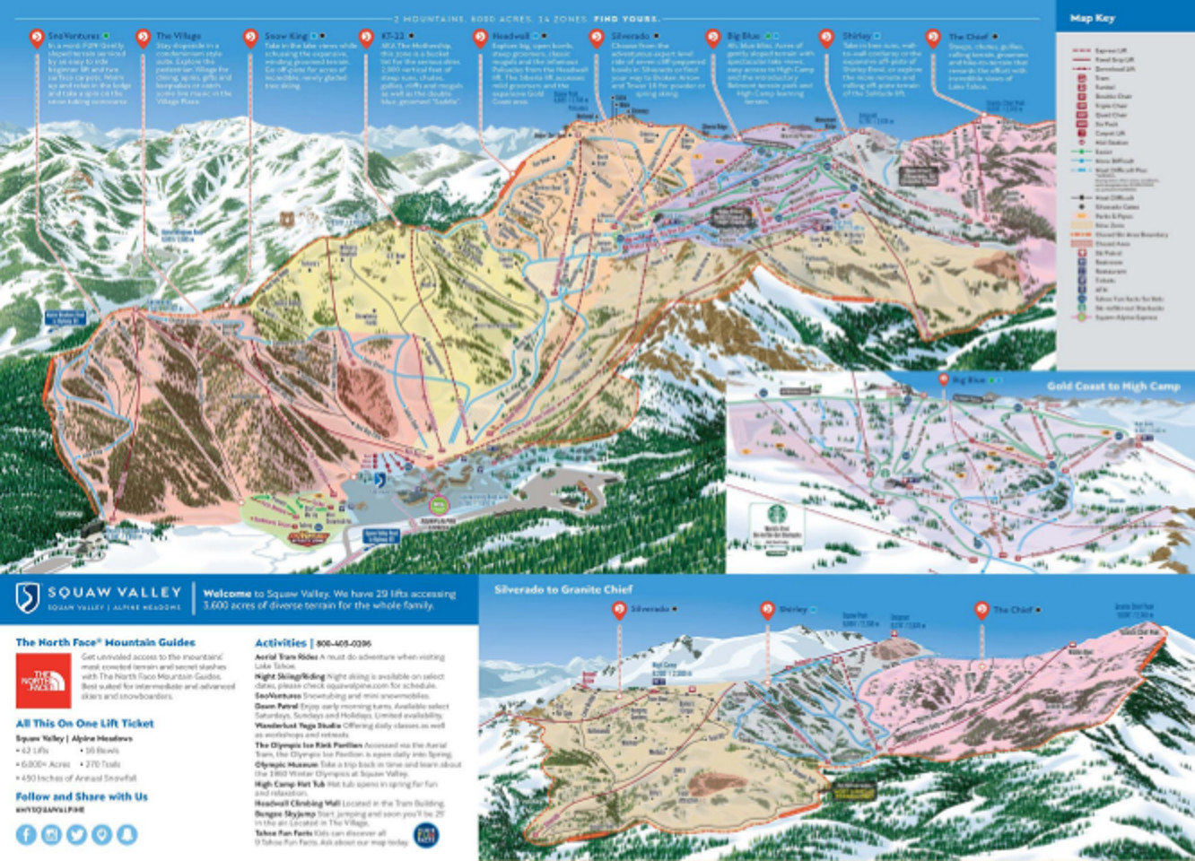 Squaw Valley Ski Resort Guide Location Map Squaw Valley Ski - Us map of ski resorts